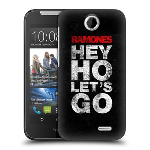 Plastové pouzdro na mobil HTC Desire 310 HEAD CASE The Ramones - HEY HO LET´S GO