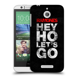 Plastové pouzdro na mobil HTC Desire 510 HEAD CASE The Ramones - HEY HO LET´S GO