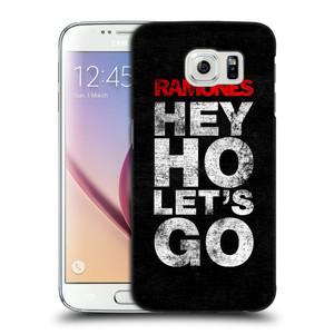 Plastové pouzdro na mobil Samsung Galaxy S6 HEAD CASE The Ramones - HEY HO LET´S GO
