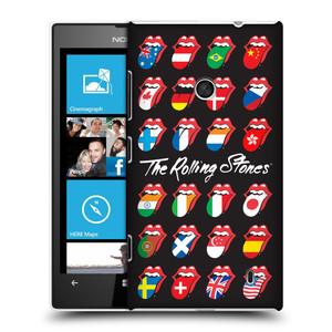 Plastové pouzdro na mobil Nokia Lumia 520 HEAD CASE The Rolling Stones - Jazyky 24 Zemí