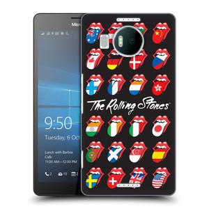 Plastové pouzdro na mobil Microsoft Lumia 950 XL HEAD CASE The Rolling Stones - Jazyky 24 Zemí