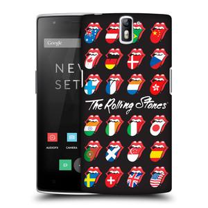 Plastové pouzdro na mobil OnePlus One HEAD CASE The Rolling Stones - Jazyky 24 Zemí
