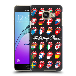 Plastové pouzdro na mobil Samsung Galaxy A3 (2016) HEAD CASE The Rolling Stones - Jazyky 24 Zemí