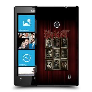 Plastové pouzdro na mobil Nokia Lumia 520 HEAD CASE Slipknot - Masky