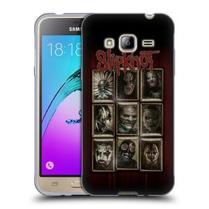 Silikonové pouzdro na mobil Samsung Galaxy J3 (2016) HEAD CASE Slipknot - Masky
