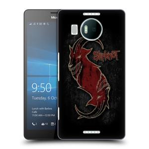 Plastové pouzdro na mobil Microsoft Lumia 950 XL HEAD CASE Slipknot - Rudý kozel