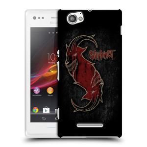 Plastové pouzdro na mobil Sony Xperia M C1905 HEAD CASE Slipknot - Rudý kozel