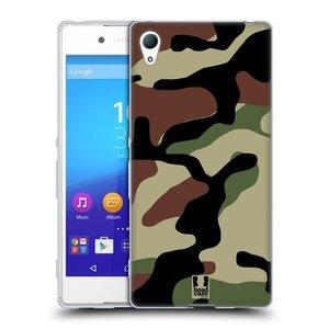 Silikonové pouzdro na mobil Sony Xperia Z3+ (Plus) HEAD CASE Maskáče