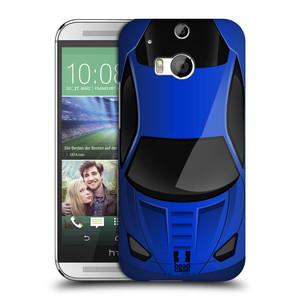 Plastové pouzdro na mobil HTC ONE M8 HEAD CASE AUTO MODRÉ
