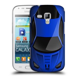 Plastové pouzdro na mobil Samsung Galaxy Trend HEAD CASE AUTO MODRÉ