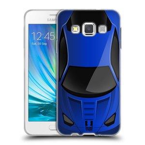 Silikonové pouzdro na mobil Samsung Galaxy A3 HEAD CASE AUTO MODRÉ