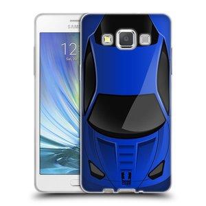 Silikonové pouzdro na mobil Samsung Galaxy A5 HEAD CASE AUTO MODRÉ