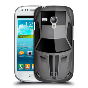 Plastové pouzdro na mobil Samsung Galaxy S3 Mini VE HEAD CASE AUTO ŠEDÉ