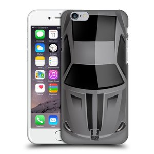 Plastové pouzdro na mobil Apple iPhone 6 a 6S HEAD CASE AUTO ŠEDÉ