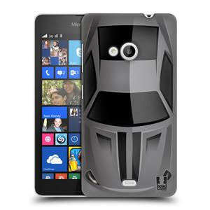 Plastové pouzdro na mobil Microsoft Lumia 535 HEAD CASE AUTO ŠEDÉ