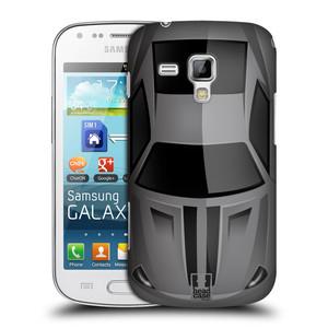 Plastové pouzdro na mobil Samsung Galaxy S Duos HEAD CASE AUTO ŠEDÉ