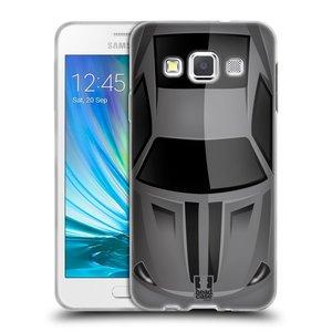 Silikonové pouzdro na mobil Samsung Galaxy A3 HEAD CASE AUTO ŠEDÉ
