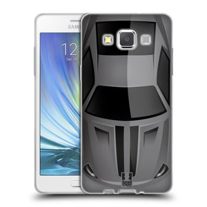 Silikonové pouzdro na mobil Samsung Galaxy A5 HEAD CASE AUTO ŠEDÉ
