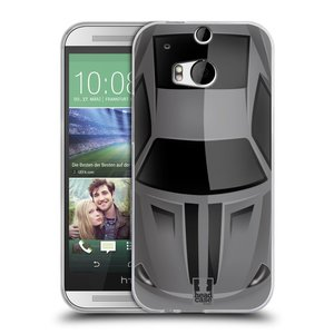 Silikonové pouzdro na mobil HTC ONE M8 HEAD CASE AUTO ŠEDÉ