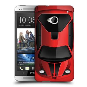 Plastové pouzdro na mobil HTC ONE M7 HEAD CASE AUTO ČERVENÉ