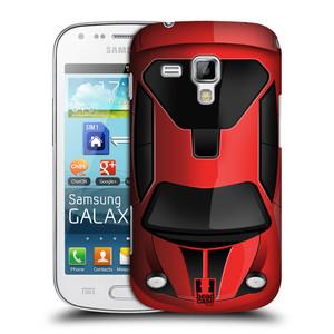 Plastové pouzdro na mobil Samsung Galaxy S Duos HEAD CASE AUTO ČERVENÉ