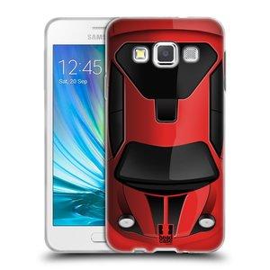 Silikonové pouzdro na mobil Samsung Galaxy A3 HEAD CASE AUTO ČERVENÉ