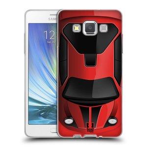 Silikonové pouzdro na mobil Samsung Galaxy A5 HEAD CASE AUTO ČERVENÉ
