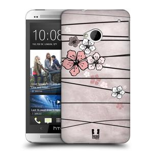 Plastové pouzdro na mobil HTC ONE M7 HEAD CASE BLOSSOMS PAPER