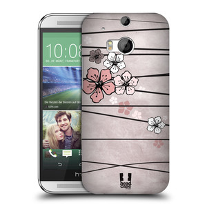 Plastové pouzdro na mobil HTC ONE M8 HEAD CASE BLOSSOMS PAPER