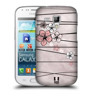 Plastové pouzdro na mobil Samsung Galaxy S Duos 2 HEAD CASE BLOSSOMS PAPER