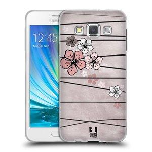 Silikonové pouzdro na mobil Samsung Galaxy A3 HEAD CASE BLOSSOMS PAPER