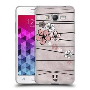Silikonové pouzdro na mobil Samsung Galaxy Grand Prime HEAD CASE BLOSSOMS PAPER
