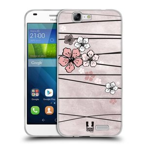 Silikonové pouzdro na mobil Huawei Ascend G7 HEAD CASE BLOSSOMS PAPER