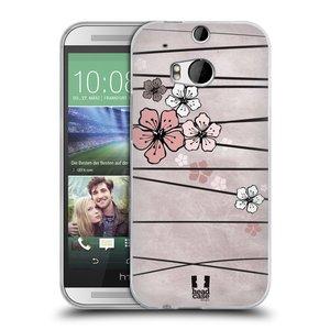 Silikonové pouzdro na mobil HTC ONE M8 HEAD CASE BLOSSOMS PAPER