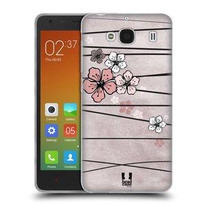 Silikonové pouzdro na mobil Xiaomi Redmi 2 HEAD CASE BLOSSOMS PAPER