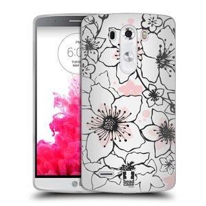 Silikonové pouzdro na mobil LG G3 HEAD CASE BLOSSOMS SPRINGTIME