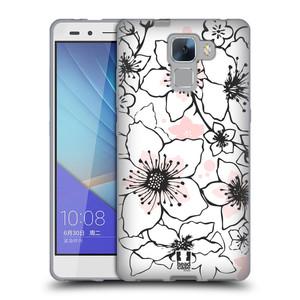 Silikonové pouzdro na mobil Honor 7 HEAD CASE BLOSSOMS SPRINGTIME