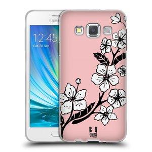 Silikonové pouzdro na mobil Samsung Galaxy A3 HEAD CASE BLOSSOMS VINE
