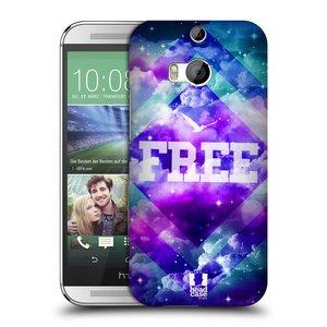 Plastové pouzdro na mobil HTC ONE M8 HEAD CASE CHROMATIC FREE