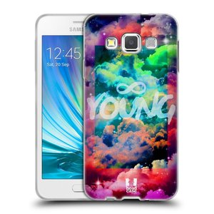 Silikonové pouzdro na mobil Samsung Galaxy A3 HEAD CASE CHROMATIC YOUNG