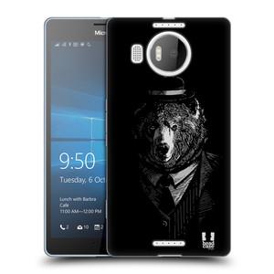 Silikonové pouzdro na mobil Microsoft Lumia 950 XL HEAD CASE MEDVĚD V KVÁDRU