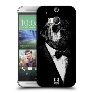 Plastové pouzdro na mobil HTC ONE M8 HEAD CASE PSISKO V KVÁDRU