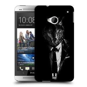 Plastové pouzdro na mobil HTC ONE M7 HEAD CASE VLK V KVÁDRU