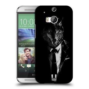 Plastové pouzdro na mobil HTC ONE M8 HEAD CASE VLK V KVÁDRU