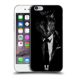 Silikonové pouzdro na mobil Apple iPhone 6 a 6S HEAD CASE VLK V KVÁDRU