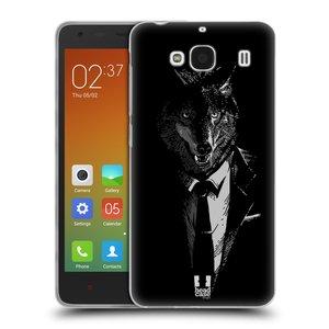 Silikonové pouzdro na mobil Xiaomi Redmi 2 HEAD CASE VLK V KVÁDRU