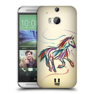 Plastové pouzdro na mobil HTC ONE M8 HEAD CASE KONÍK BAREVNÝ