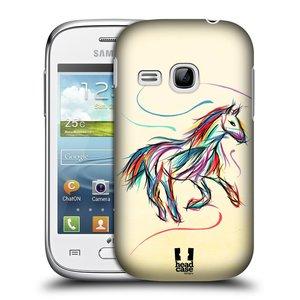 Plastové pouzdro na mobil Samsung Galaxy Young HEAD CASE KONÍK BAREVNÝ