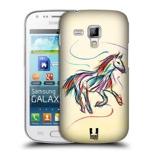 Plastové pouzdro na mobil Samsung Galaxy S Duos HEAD CASE KONÍK BAREVNÝ