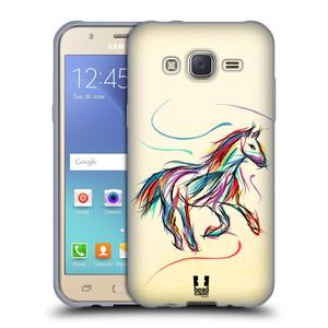 Silikonové pouzdro na mobil Samsung Galaxy J5 HEAD CASE KONÍK BAREVNÝ
